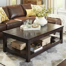 brown square coffee table parsons large tobacco brown coffee table pier 1 imports