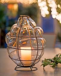 glass lantern blown glass decorative candle lantern
