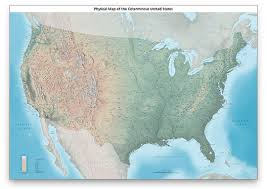 united states map with labels of states and capitals us physical map