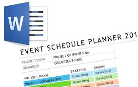 event timetable template how to plan and manage complex