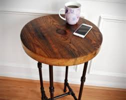round industrial side table coffee table industrial end table industrial nightstand