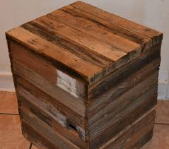 wood cube end table easy and creative diy end table ideas