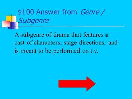 jeopardy vocabulary narrator u0027s perspective literary terms genre