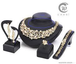 necklace bracelet earring ring images New 18 k gold pearl austrian crystal necklace bracelet earring jpg