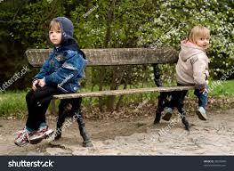 Boys Bench Jeans Offended Boy Sit On Bench Stock Photo Download Now 30655840