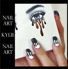 kylie jenner lip drip nail art wraps stickers lip kit inspired