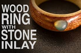 make wood rings images How to make wood ring with stone inlay jpg