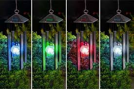 solar powered wind chime light solar powered colour changing wind chime light