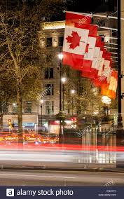 Canada House by Canadian Flags Flying At Canada House Trafalgar Square London Uk