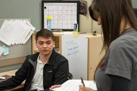 ttu resume builder journalism programs majors comc ttu student interviewing another student