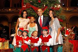 8 years of obama family christmases at the white house photos