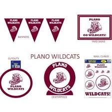 balloon delivery frisco tx plano high school wildcats plates napkins cups only at frisco