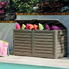 animaux resine jardin malle coffre de rangement en résine 420l mobilier de jardin
