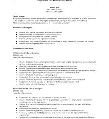 Resume Objective For Healthcare Hospital Administration Resume Medical Administrative Assistant