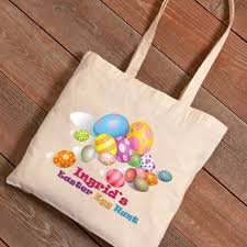personalized easter eggs personalized easter canvas bag easter eggs