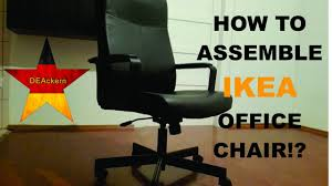 Ikea Office Chair Green Ikea Office Chair Millberget Assembly Youtube