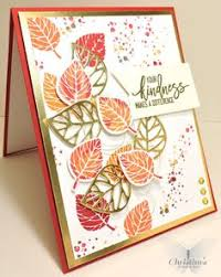 the simple style and autumn colors cards autumn
