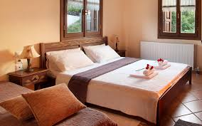 accommodation rooms pelion guesthouses double room fireplace