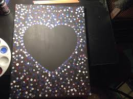 how to make a painted canvas with a in the middle