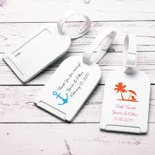 wedding tags for favors theme personalized luggage tag favor theme wedding