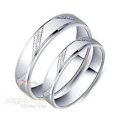 cincin emas putih cincin kawin ferosya emas putih sepasang cincin kawin emas