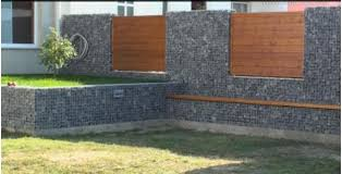 supported gabion foundations stone walls garden fences united states