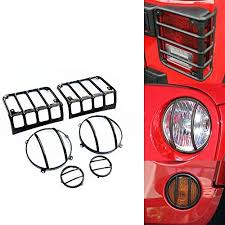 jeep light covers maiker 6 sets iron light guard cover kits jeep light guards