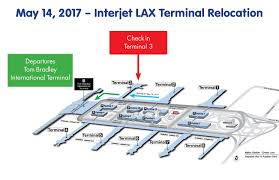 Los Angeles Airport Terminal Map by Interjet Relocating Lax Operations And Check In Counters To