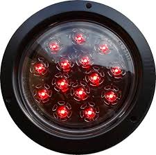 flush mount trailer lights 1 red round 4 autosmart flush mount led brake stop turn tail clear