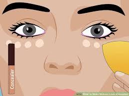 image led make makeup look airbrushed step 8
