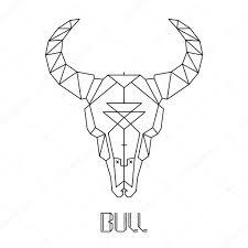 bull skull on white u2014 stock vector topvectors 68236283