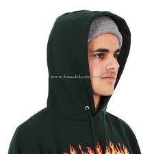 hoodies u0026 sweatshirts thrasher flame hoodie forestgreen