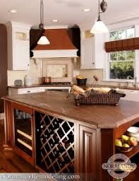 kitchen island with wine storage room temperature wine storage ideas normandy remodeling