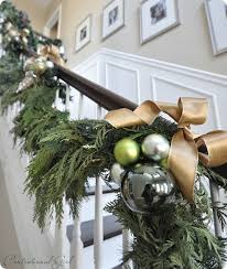Stairs Decorations by Best 25 Christmas Stair Garland Ideas Only On Pinterest