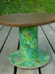 Wire Spool Table From Industrial Cable Wire Spool To Plant Table Craftmeister