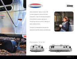 Airstream Travel Trailers Floor Plans by 2017 Airstream Travel Trailers Brochure Rv Literature