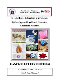 k 12 module in t l e grade 8 second grading handicrafts