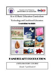 k 12 module in t l e grade 8 second grading handicrafts