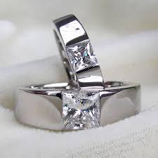 aliexpress buy 2ct brilliant simulate diamond men design pair engagement rings 18k white gold ring