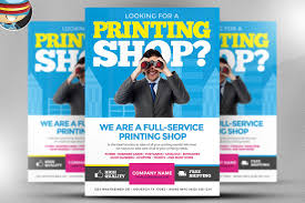 printing services flyer template flyer templates creative market