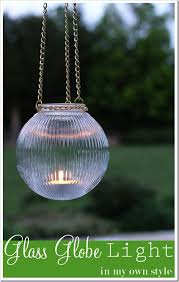 Outdoor Globe Light How To Make Outdoor Glass Hanging Lights In My Own Style