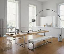 White Dining Room Bench by Furniture Splendid B U0026b Italia Rectangluar Light Oak Monolithic