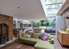 The Terrace Mediterranean Kitchen - semi detached london terrace house gets a bright modern extension