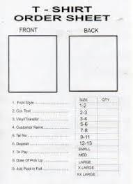 shirt order form template sample t shirt order form template t