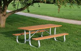 recycled plastic picnic tables rectangular recycled plastic picnic table with heavy duty galvanized