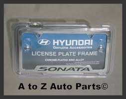 new 2009 2017 hyundai sonata chrome license plate frame oem