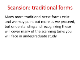 scanning poems ppt
