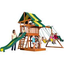 backyard discovery tucson cedar wooden swing set home outdoor