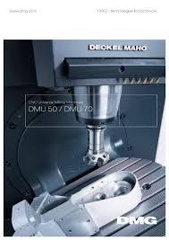 cnc universal milling machines dmg mori pdf catalogue