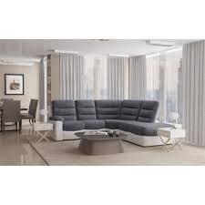 canapé d angle bi matière joie canapé d angle de relaxation 4 places 291x256x101 angle